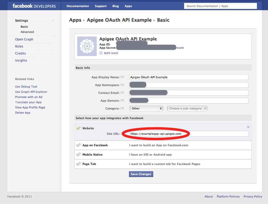 OAuth API - Add Facebook